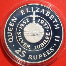 Seychelles-Sechelles: 25 Rupees 1977 Silber, KM# 38.a, PP-Proof, #F 2526