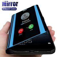 For Xiaomi Mi Poco M3 X3 NFC 10T 5G Smart Leather Flip View Mirror Case Cover