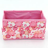Multifunction Beauty  Fad Folding Makeup Cosmetics Storage Box Organizer Flower