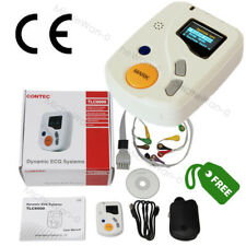 Portable Dynamic ECG Recorder 48H Holter 12 lead Analyzer OLED PC Software CE