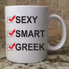 Ceramic Coffee Tea Mug Cup 11oz White Sexy Smart Greek Great Gift New