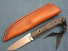 DAVE RICKE Utility, Small Hunting Knife, Custom Fixed Blade Hunter Schrap Sheath
