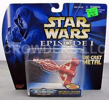 """Micro Machine Star Wars Episode 1 Republic Cruiser 3"""" Die Cast Vehicle Galoob 99"""