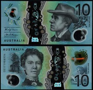 AUSTRALIA 10 DOLLARS (P63) N. D. (2017) LOWE & FRASER POLYMER UNC