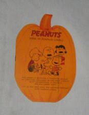 THE PEANUTS BOOK Of PUMPKIN CAROLS Vintage Card UNUSED Halloween Songs Poems