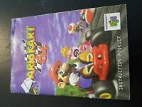 Authentic Manual Only, No Game Or Box - Mario Kart 64 Nintendo 64