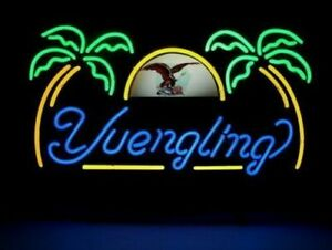 """New Yuengling Eagle Palm Trees Neon Light Sign 17""""x14"""" Beer Cave Gift Lamp"""