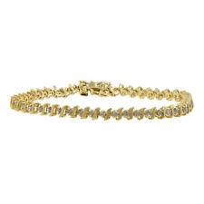 Gold Diamond Tennis Bracelet - 1.50Ctw Ladies Vintage Classic Estate 10K Yellow