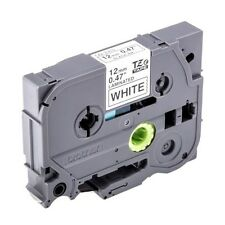 Brother P-touch tze-231s (12mm x 4m) Negro sobre blanco cinta etiquetas