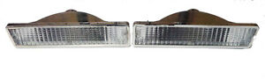 1981-1988 Oldsmobile Cutlass Clear Bumper Marker Light set