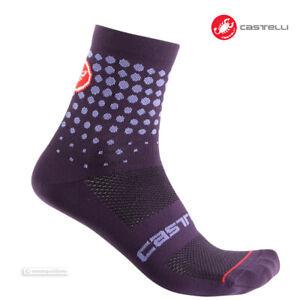 One Pair ELECTRIC MAGENTA Castelli SCAMBIO 13 Merino Wool Cycling Socks