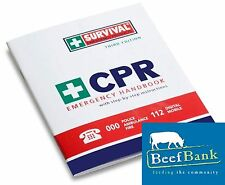 First Aid Kit (CPR Emergency Handbook) Charity Fundraising for BeefBank