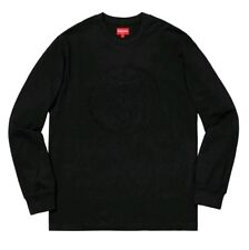 Supreme Crest L/S Top - Black - Size M - New - Sold Out