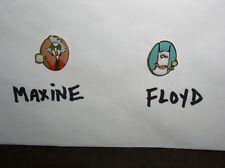 Set of two Pins Maxine & Floyd Metal Enamel Pinbacks by Shoebox Hallmark - Euc