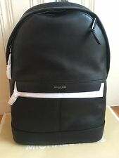 NWT Michael Kors  Mens  ODIN Black Leather Backpack Retail $398
