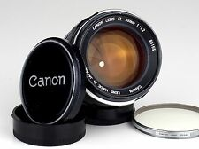 legendary CANON FL 1.2/55  CANON lens with CAPS and FILTER