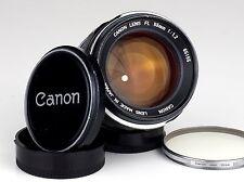 Légendaire Canon FL 1.2/55 Canon Objectif avec bouchons et filtre