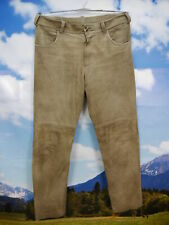 Country Line graue Ziegenleder Hose verspeckt eingetragen lange Lederhose Gr.52