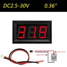 """0.36"""" Digital Voltmeter Panel DC 2.50~30V Voltage Mount LED Voltmeter Red bb"""