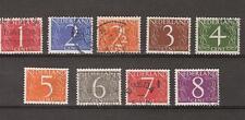 NVPH Netherlands Nederland 460-468 used 1946 Cijfer Pays Bas