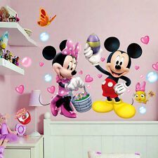 DIY Mickey Minnie Mouse Wall Sticker Removable Vinyl Decals Kids Nursery Decor
