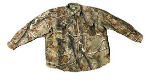Cabelas Men's Realtree AP Cano Hunting Long Sleeve Button Down Size 2XL