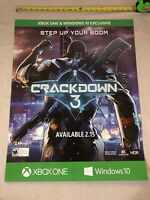 "Crackdown 3 Exclusive Gamestop Promo Poster 22x28"" Xbox One X Glossy Print RARE"