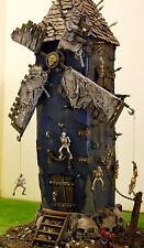 "WARHAMMER -WAR GAME- VAMPIRE COUNT scenary- skelton ""TOWER OF DEATH "" PRO PAINT"