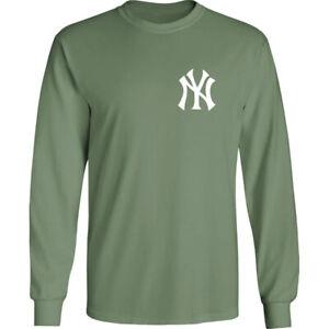 New York Yankees NY Long T-Shirt NYC Men Cotton Blend Chest