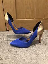 Ted Baker Blue And Rose Gold Heels, EU 39, UK 6, BN