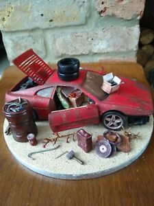 Barn Find Ferrari 355 Car Model 1/18 scale diorama rare Italian collector