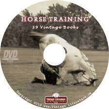 Horse Training  {How To Be a Horse Whisper ~ 39 Vintage How To Books } on DVD