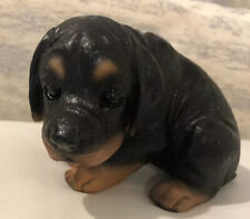 Adorable Dachshund Puppy Sculpture Figurine Desk Home Decor Great Gift! GLOBAL!