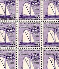 1957 - SHIPBUILDING - #1095 Mint -MNH- Sheet of 70 Postage Stamps