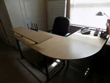 New listing -L-Shaped Workstation Office Desks (Lot of 4) Neutrally Colored and Modern Style