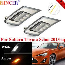 2PCS Smoked Lens LED Side Marker Indicator Lamp For Subaru Toyota Scion 2013-up