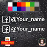 2 x FACEBOOK PERSONALISED NAME CAR WINDOW BUMPER STICKER VINYL DECAL