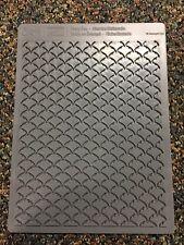 Stampin Up Letterpress Fancy Fan Textured Plate Sizzix Big Shot