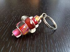 RARE red pink yellow orange spindle keychain