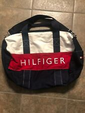 Tommy Hilfiger Duffel Bag Large Red Blue White Hand Strap And Crossbody Strap