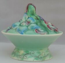 """Clarice Cliff covered Powder Pot - from the """"My Garden"""" collection"""