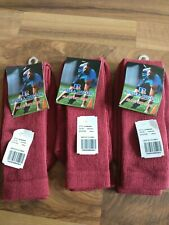 Team Sports Baseball Sock Lot Cardinal Red 3 Pair Size Small