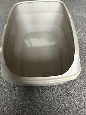 Grey Cat Litter Tray Open Top