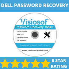 DELL Password Reset Recovery Removal CD DVD Disc Windows XP VISTA 7 8 10 DVD