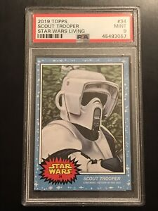 Scout Trooper 2019 Topps Star Wars Living Set #34 SP PSA 9 Mint Card ROTJ