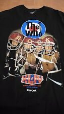 THE WHO LIVE AT SUPERBOWL XLIV  2010 XL BLACK T-SHIRT