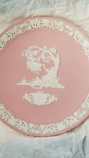 Wedgwood Valentine's Day Plate 1983 White on Pink Jasper - No. 6457