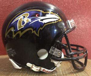 NFL Throwback Baltimore Ravens Riddell Mini  Football Helmet & Facemask