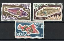 """T.A.A.F.: SERIE COMPLETE DE 3 TIMBRES THEME """"POISSON"""" NEUF** N°43/45 Cote:46,50€"""