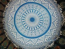 Indian Floor Pillow Cover Mandala Tapestries Round Cushion Cover Ottoman Decor